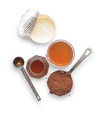 DIY Color Booster for Brunettes Cocoa makes for a deeper, richer brown. How it works: Honey moisturizes while acids in the yogurt (lactic) and vinegar (acetic) penetrate the hair shaft, allowing the cocoa's pigment to sink in. Natural ...