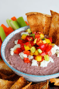 Black Bean Dip with Goat Cheese