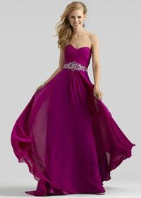 Long Plum Beaded Clarisse Prom Dresses 2014