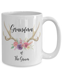 Grandma of the groom white ceramic coffee mug |wedding gift | engagement gift | anniversary| newly weds| couple| bride|groom $18.95
