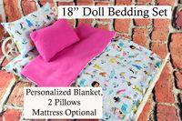 American Girl Doll Bedding - 18 Inch Doll Bedding Set - Mermaids $28.99