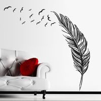 Super Deal Wall Sticker Bedroom TV Background Wall Stickers Home Decor Wall Decals Stickers pegatinas de pared HYM02 $11.62