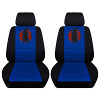 Customized Seat Covers Fits 2011 to 2018 Jeep Wrangler JK Pair of Front Seat Covers with a Samurai $97.95