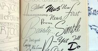ABC of Lettering, by Carl Holmes - links to multiple images taken from Mr. Holmes book.
