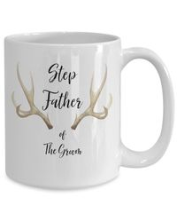 Step father of the groom White Ceramic Coffee Mug |Wedding Gift | Engagement Gift | Anniversary| Newly Weds| Couple| Bride| Groom| $18.95