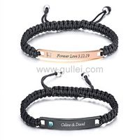 Matching Couple Bracelets with Name Birthday Gift https://www.gullei.com/matching-couple-bracelets-with-name-birthday-gift.html