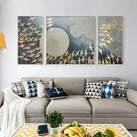 Abstract art painting Acrylic Original painting on Canvas 3 pieces Wall Art Painting wall Pictures cuadros abstractos Decor Hand Painted $292.94