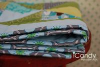 Quilt binding tutorial with lots of closeup pics.