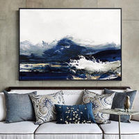 Abstract paintings on canvas original art oil painting sea waves texture heavy wall pictures large painting home decor cuadros abstractos $159.00