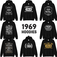 1969 Birthday Gift, Vintage Born in 1969 Hooded Sweatshirt for women men, 51st Birthday Hoodies for her him, Made in 1969 Hoodie 51 Year Old $23.99