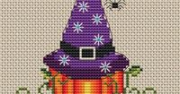 Free Cross Stitch Pattern - Pumpkin Witch
