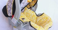 DIY Recovering Baby Car Seat: full tutorial for when the car seat needs recovering. www.makeit-loveit.com