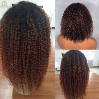 250 density 1B/30 13x6 Lace Front Peruvian Kinky Curly Hair $439.92