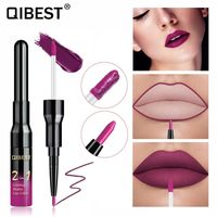 �Ÿ˜�Qibest Double Head Matte Lip Gloss Lip Tint Liner Waterproof Nude Makeup Lipgloss Lasting Matt Purple Red Brown Liquid Lipstick�Ÿ˜� $5.91