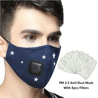 Kpop Cotton Anti Pollution Mask korean Air Filter Mouth Face Mask N95 Respirator Dust Mask PM2.5 5 Layers Washable Cotton Masks $17.95