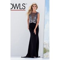 Tony Bowls Evenings TBE11556 Jersey Illusion Dress - Brand Prom Dresses|Beaded Evening Dresses|Charming Party Dresses