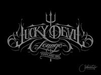 New logotype for Lucky Devil Lounge. All hand drawn letters tuned into vector.