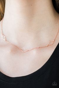 Paparazzi Dangerously Dainty - Copper - Necklace $5.00