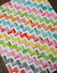 "Rita of Red Pepper Quilts made this ""scrap buster"" quilt top in just a few days. Amazing rectangles."