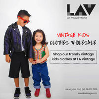 Shop our trendy and stylish vintage kids clothes at LA Vintage. A wide range of vintage kids clothes wholesale collections available for boys and girls.