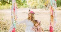 Flower crown family photos by Jessica Downey Photo   Lauren Ristow Photography   100 Layer Cakelet