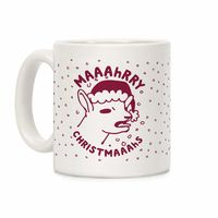 How Would You Use This? �œ�Handcrafted in USA! �œ� Maaahrry Christmaaahs Ceramic Coffee Mug $14.99
