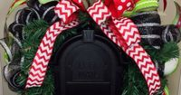 Christmas Mailbox Swag on Etsy, $49.00