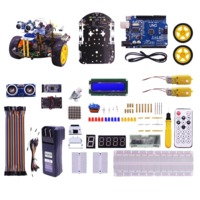 Yahboom 2WD Multi-functional Smartduino Starter Kit Smart Robot 2in1 for Arduino Uno R3 Compatible Scratch3.0 Programming Education