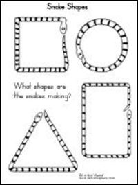 snake shape worksheet...use pipecleaners or play dough...