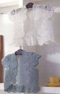 crochet cute lace jacket �™� �™� ... #inspiration crochet #diy GB