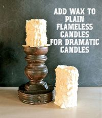 chunky flameless candles That certain age when you lay awake at 2 am every night and can't fall asleep... ...should I get up? What would I ...