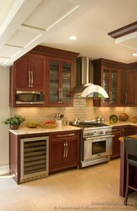 kitchen ideas with cherry wood | ... of Kitchens - Traditional - Dark Wood, Cherry-Color (Kitchen #47)
