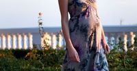 Silk printed maxi dress