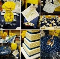 blue and yellow weddings - Google Search