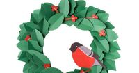 Create your own gorgeous #DIYpaper #wreath to decorate your space or give to a loved one. #christmas #wonderfulchristmas