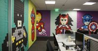 Distractify | Drab Office Transformed Into A Nerd's Dream With Nothing But Post-It Notes