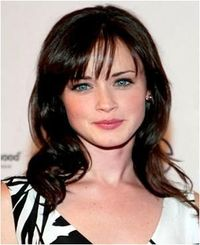Long Piecey Bangs Hairstyles for Heart Shaped Face