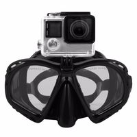 Professional Underwater Diving Mask Scuba Snorkel Swimming Goggles Scuba Seal Dive Masks Diving Equipement For Most Sport Camera $18.99