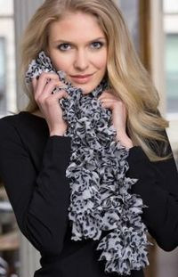 Snow Leopard print scarf pattern
