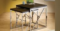 Black Chrome Finish Nesting End Side Table Stand (Set of 2) | Overstock.com