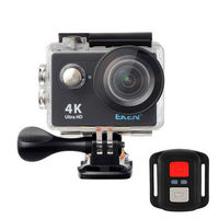 EKEN H9R Sport Action Waterproof Camera 4K Ultra HD 2.4G Remote WiFi Without live Streaming Function - Black