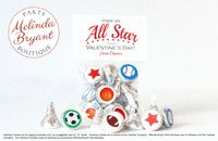 Sports Themed Personalized Valentine Card Sticker Kits for Candy Boy or Girls Athletic Theme Valentines Cards Custom Kit Class Party Favor $15.56