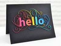 Quilled Hello Card by