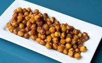 Baked Spiced Chickpeas, yummy on their own or on a salad....Mmmm