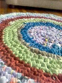 i really want to try and make a rag rug. i've been looking around online for tutorials on how to do it, and i'm so inspired just by pictures of them! i think th