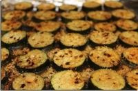 Roasted Zucchini Parmesan- I might try this as an after-work snack with some low sugar marinara.