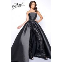 Black Mac Duggal 11039M - Romper Long Sequin Dress - Customize Your Prom Dress