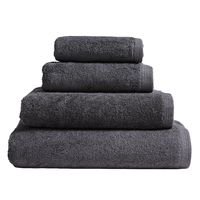Essentiel Graphite Grey Bath Towels by Alexandre Turpault $20.00