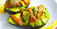deviled avocado with spicy curry sauce: recipe here
