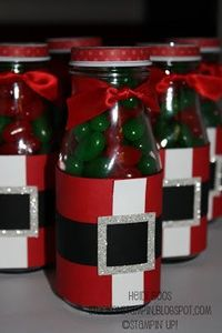 Stuck on Stampin': 12 days of Christmas {projects} - day 3 bottles candie santa wrap